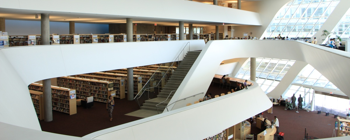 Inside of the City Centre Library