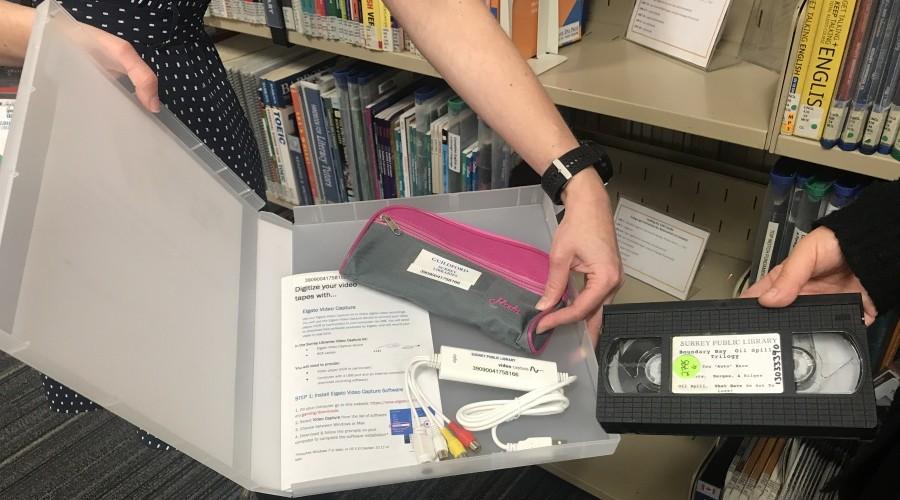 Elgato digitizing kit held by staff member