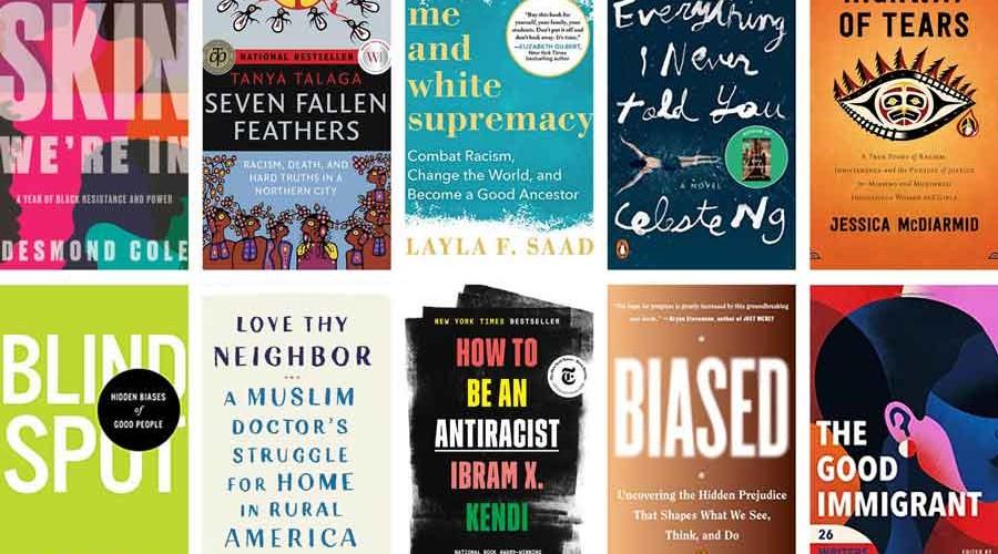 anti-racism booklist images